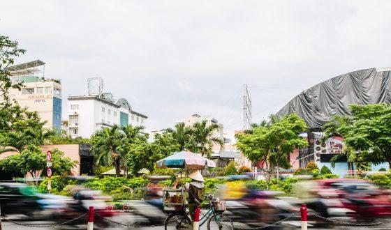 Busy life of Ho Chi Minh city