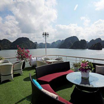 Relaxing at Halong Bay boat