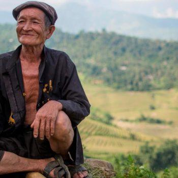 Black Hmong minority old man