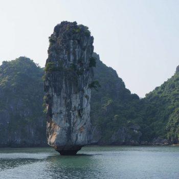 Impressive rock in mekong river