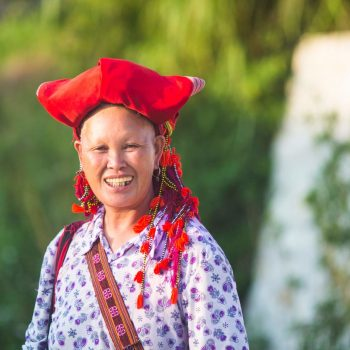 Photo of a Red Zao woman smiling