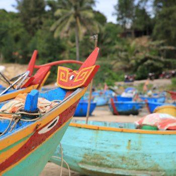 Mui Ne - fishing boats - beach