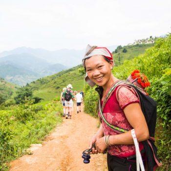 Local Sapa guide shows turist hidden buffalo trails