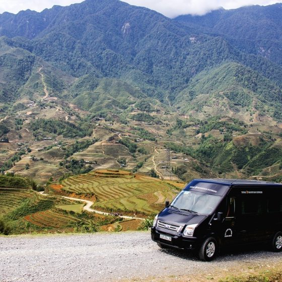 The Topas Mountain express entering the remote and beautiful mountains of Sapa