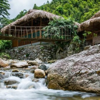 Jungle river at Topas Riverside Lodge